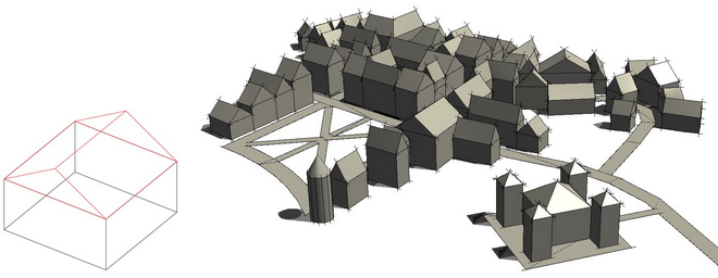 AutoCAD Architectural Tools-3D town models