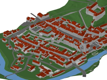 3D visualization of historical town