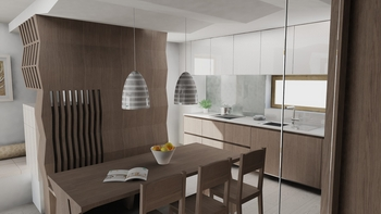 3D rendering-dining rooms