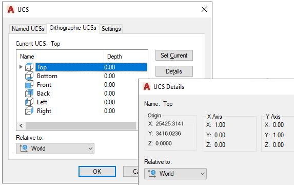 AutoCAD bug-Top View-Origin coordinates