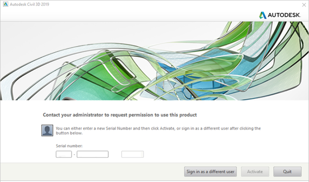 Autodesk-Contact your administratorto request permission to use this product