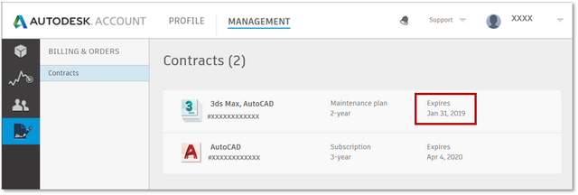 Autodesk Account-Expiration Date